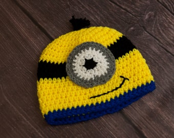 Minion Hat/Halloween Hat (fits babies to adults)