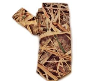 Satin camo necktie Mossy Oak Shadowgrass necktie