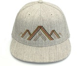 Mountain Illustration - Men's/Unisex Hat - Pro-Fit Flexfit Hat - Fitted and Snapback Options Available