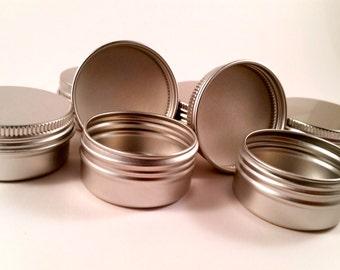 1/2 oz (100 count) empty aluminum Tin  (FREE SHIPPING) ETSY