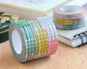 "Classiky Washi Tape SAMPLE 40"" - ten to sen squiggly line Japanese masking tape  (1m/1 yard) Buy 3 Get 1 FREE!"