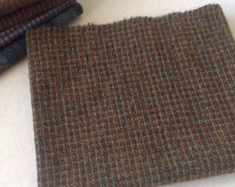 Wool Fabric for Rug Hooking and Applique, Fat Quarter Yard, Surprise Me Brown, J964