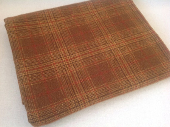 Wool Fabric for Rug Hooking and Applique, Fat Quarter Yard, Canyon Gold , J956, Deep Gold Plaid
