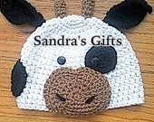 Crochet cow hat