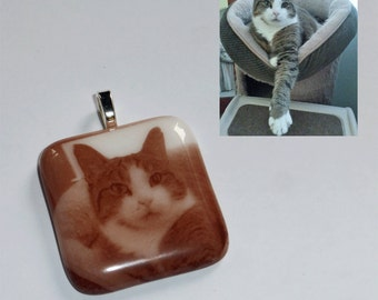 Custom pendant from your picture -  Fused glass