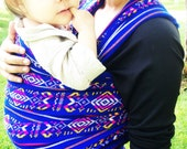 Mexican Aztec Royal with grecas Wrap 5,5 yards Baby carrier