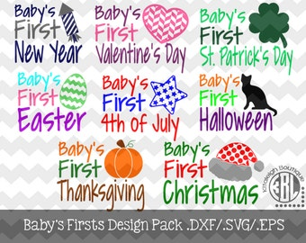 Baby's Firsts Design Pack .DXF/.SVG/.EPS File for use with your Silhouette Studio Software
