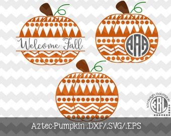 Aztec Pumpkin Files (.DXF/.SVG/.EPS)  for use with your Silhouette Studio Software