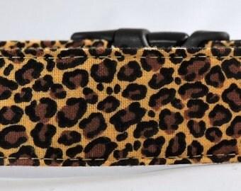 Dog Collar, Martingale Collar, Cat Collar - All Sizes -  Cheetah