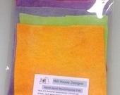 Hand-dyed Wool/Viscose Felt