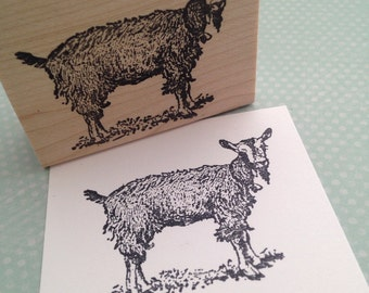 Good Goat  Wood Mounted Rubber Stamp 4244