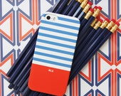 Monogrammed iPhone 6S Case, NEW Colors, Fall 2015, Colorblock Stripe, Personalized, Emily Ley, Pencil Shavings Studio, Stripes, Nautical