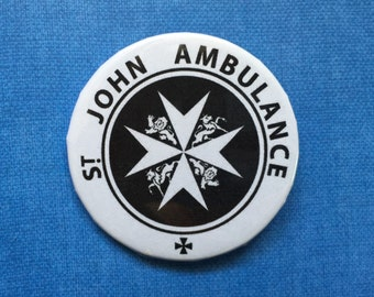 St. John Ambulance Pinback Button - Doctor Who - TARDIS - 2.25 Inches
