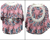 Crochet Circular Poncho For Girl Asymmetrical Unbalanced Design Crochet Pattern PDF File Is not a finished product. It is a PDF Pattern