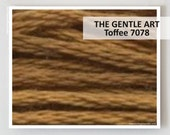 TOFFEE 7078 : Gentle Art GAST hand-dyed embroidery floss cross stitch thread at thecottageneedle.com