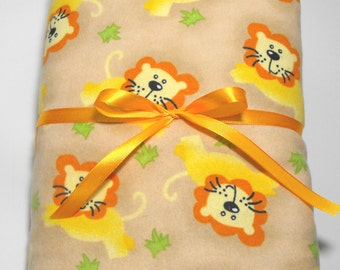 Flannel Toddler Sheet Set Fitted Sheet with Matching Pillow Case Lions