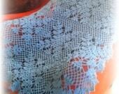 baby blanket - crochet blanket - boys blanket - girls blanket - bedding - handmade blanket - throws - aqua blue - crochet - blue