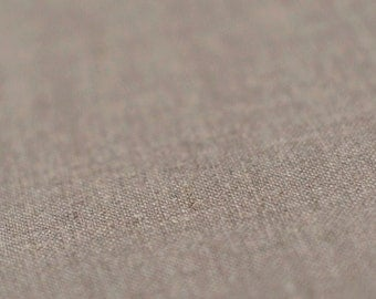 Natural linen fabric Organic fabric Pure linen flax fabric by half yard Earth grey color Sold by half yard