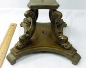 Lamp Part Floor Base Dolphin Legs Heavy Brass Bronze 1940s Signed Fairmount 12 Lbs