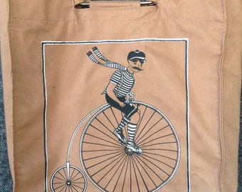 Vintage Penny-Farthing bicycle tote bag