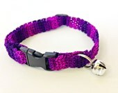 Adjustable Cat Collar Purple Ombre with Bell