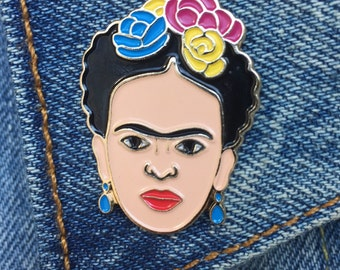 Frida, Frida Kahlo Pin, Soft Enamel Pin, Jewelry, Art, Artist, Gift (PIN7)