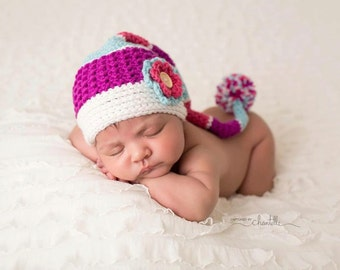 INSTANT DOWNLOAD - Crochet Coco Long Tail Beanie