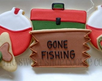 Fishing Cookies 2 dozen