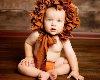 Baby Lion Bonnet Photoprop Photo Prop Lion Hat Animal Hat