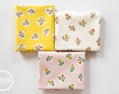 Tiger Lily Small Roses Fat Quarter Bundle, 3 Pieces, Heather Ross, Windham Fabrics, 100% Cotton Fabric, 40930