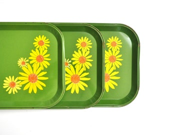 Vintage Flower Power Tray