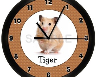 Hamster Wall Clock Gerbil 10 Inches
