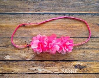 Infant headband, pink headband, baby elastic headband, baby headband, elastic headband, newborn headband, baby girl headband, hair clip