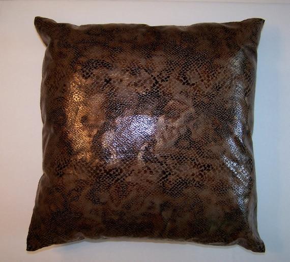 Black Throw Pillows For Sofa : Pillows Throw Sofa Couch Bronze Black Gold Copper Faux