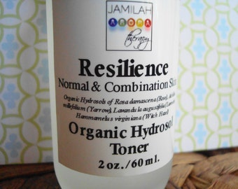 Hydrosol - Resilience Skin Toner - 100% Organic Hydrosols of Rose, Yarrow, Witch Hazel & Lavender Pamper Skin, Fragrant, Beautifying