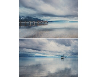 lake tahoe photograph mountain photograph boat photograph california photograph landscape photograph california print pier photograph