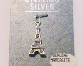 New Old Stock Sterling Silver and Marcasite Eiffel Tower Charm