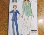 DESIGNER Koko Beall Easy Fitting Separates - Tank Top, Shirt & Tapered Trousers - Size (14 - 16 - 18)  - UNCUT Sewing Pattern Vogue 7433