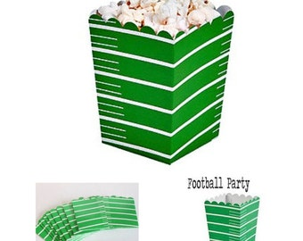 Football Popcorn Boxes 12 ct. Treat Boxes / Favor Boxes / Candy Boxes /  Popcorn Boxes /  Birthday Favors Superbowl Football Party
