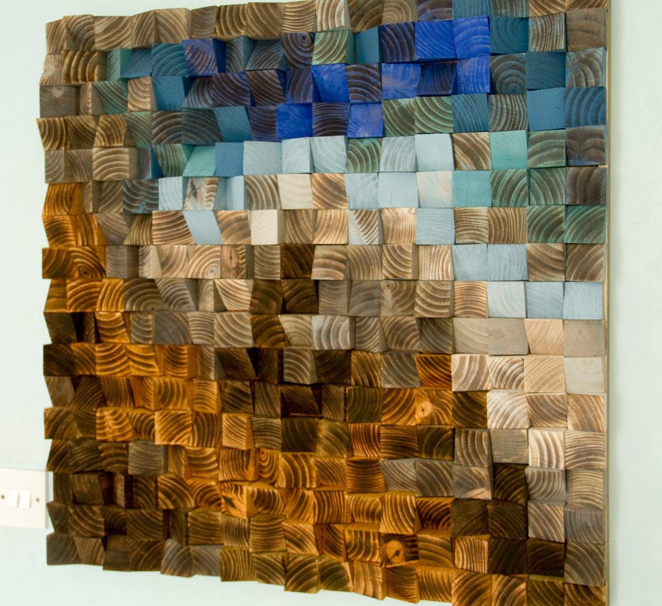 Holz wall art sculpture wandbehang skulptur zur ckgefordert - Wandbehang modern ...