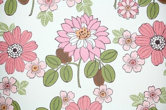 Wallpaper   ...1970s Wallpaper Green Leaves