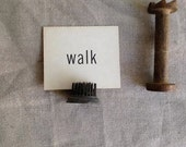 walk rustic decor shop prop cabin  teacher gift home word school display ivory word book library gift flash card