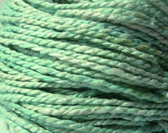 Handspun Silk Yarn Bulky Weight Yarn 8 WPI 80 Yards 73 Meters 81 g 2.8 oz Hand Dyed OOAK International Shipping - Tiffany