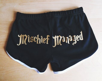 Mischief Managed Shorts - by So Effing Cute - Inspired by Harry Potter - Made in USA
