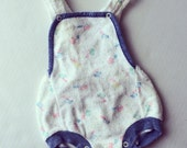 1980s Bears with Balloons Terry Romper (6 months) Unisex