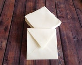 6.5x6.5 Square Envelopes Natural White Texture - 25 quantity