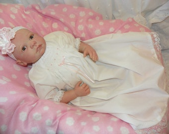 Day Gown and Head Band  for new born baby