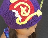 RESERVED (spires24) Made to order Disney Descendants inspired beanie Disney Villian hat Mal