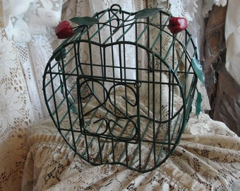 Bird cage,vintage, green, apples, shabby cottage, weddings