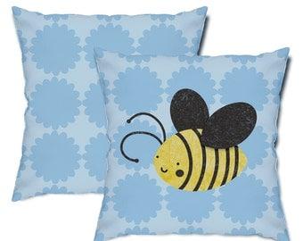 Big Bee Throw Pillow